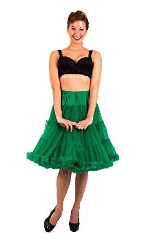 Chiffon Petticoat - 2 Layer - Kelly Green