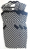 Bessie Dress – Black/White Spot