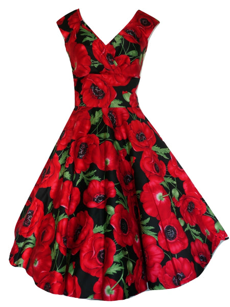 Betsy Dress - Red Tulip