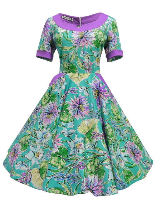 Caroline Dress - Jade Purple