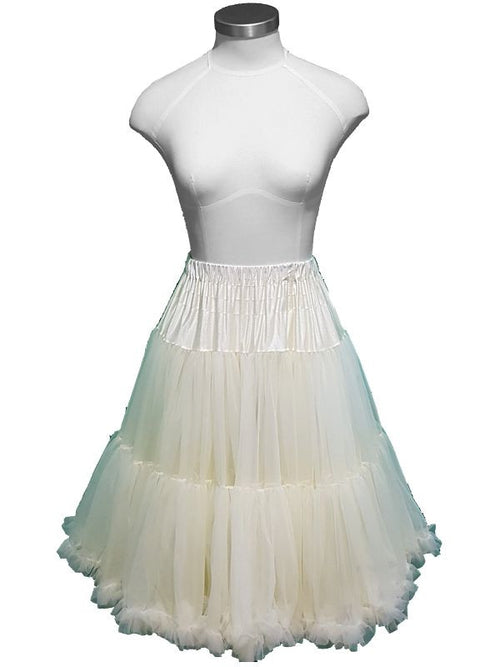 Chiffon Petticoat - 2 Layer - Cream