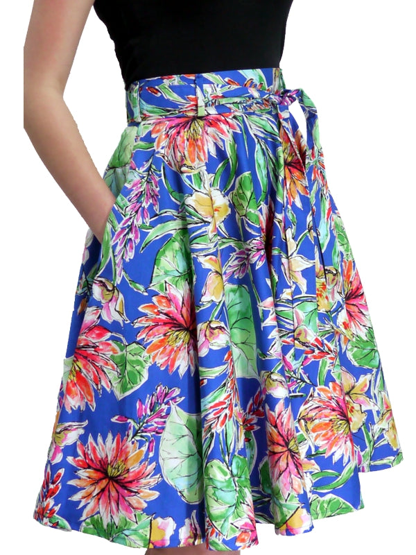 Emily Skirt - Royal Flower