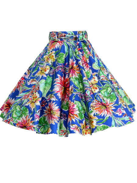 Donna Skirt - Royal Flower