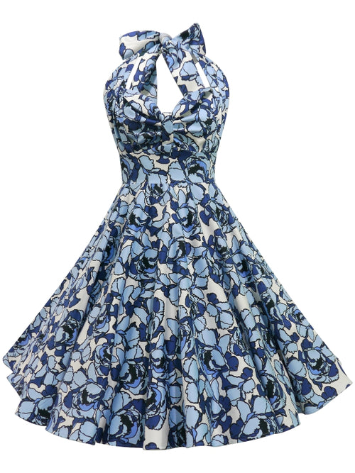 Grace Dress - Blue White