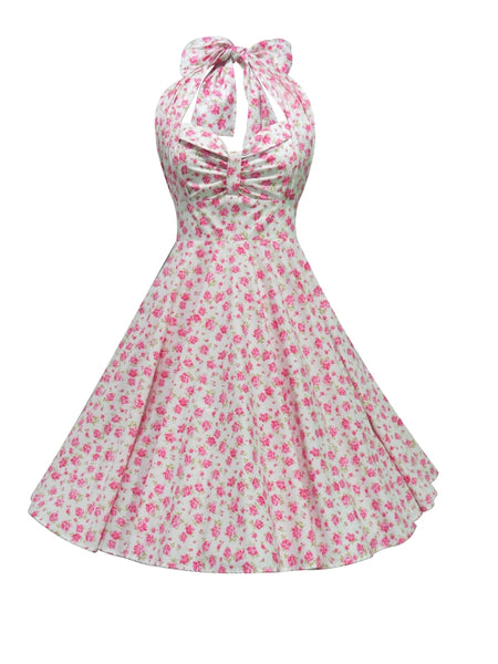 Grace Dress - Pink White Floral