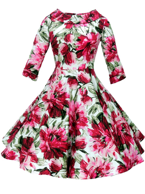 Jackie Dress - Cerise