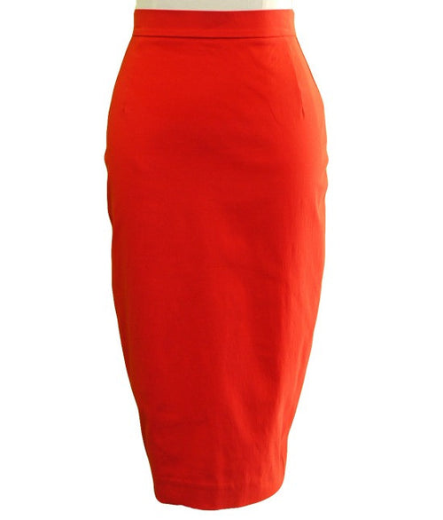 Mae Wiggle Skirt - Red