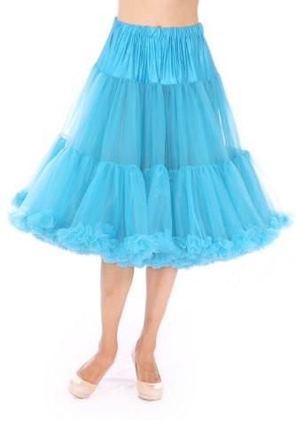 Chiffon Petticoat - 2 Layer - Peacock Blue
