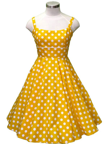Rachel Dress - Yellow Spot