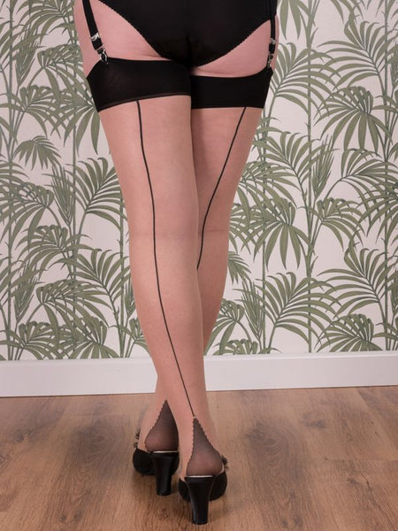 Seamed Stockings Latte Glamour