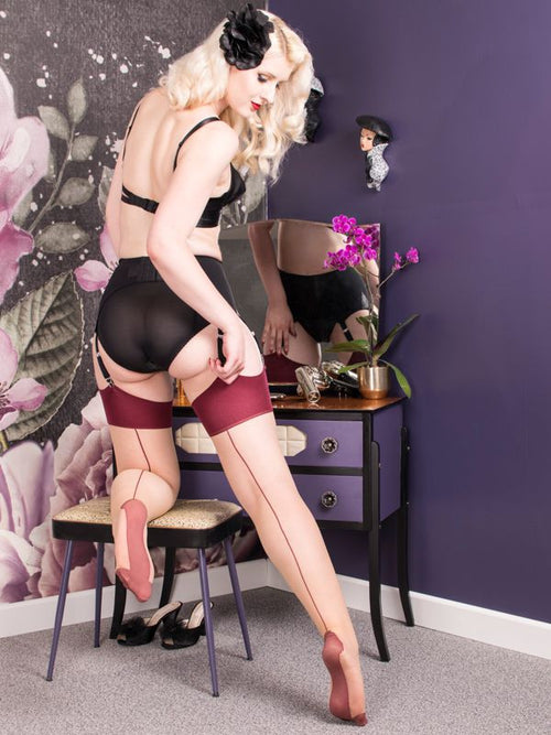 Seamed Stockings Claret Glamour