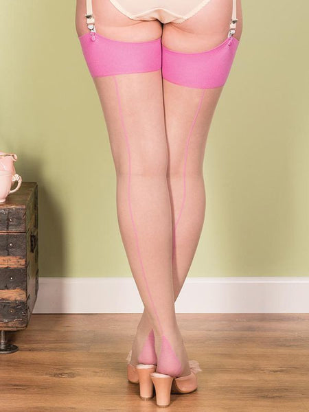 Seamed Stockings Pink Glamour