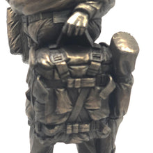 "Load image into Gallery viewer, Paratrooper Statue - Drop Order LLP, Bronze, 9"" Statue"