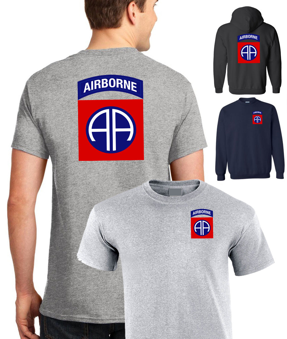 Double Printed T-Shirt US 82nd Airbone Division