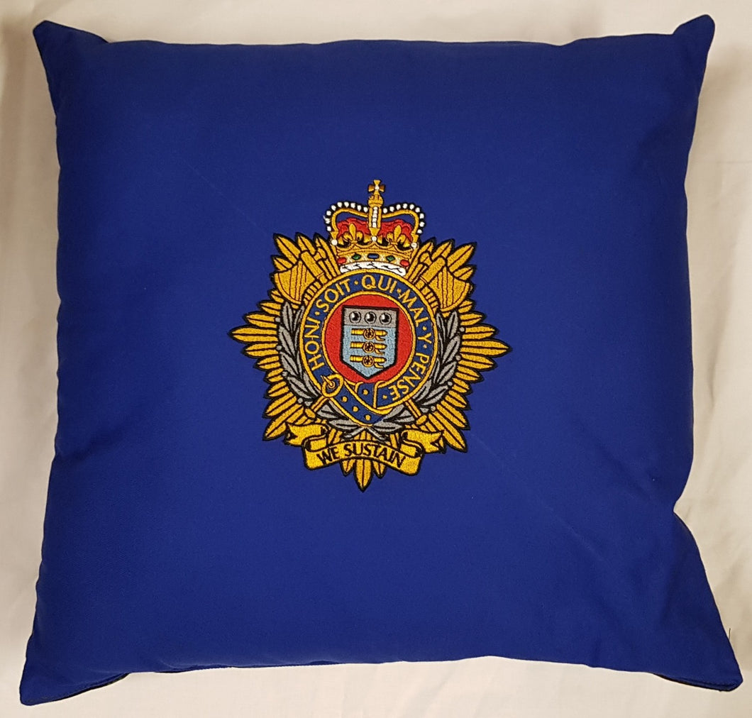 Bespoke Luxury 40cm x 40cm Cushion Royal Logistics Corps (RLC)