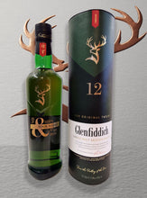 Load image into Gallery viewer, Engraved Bottle of Glenfiddich Single Malt Whiskey Mr & Mrs 70cl Design 002