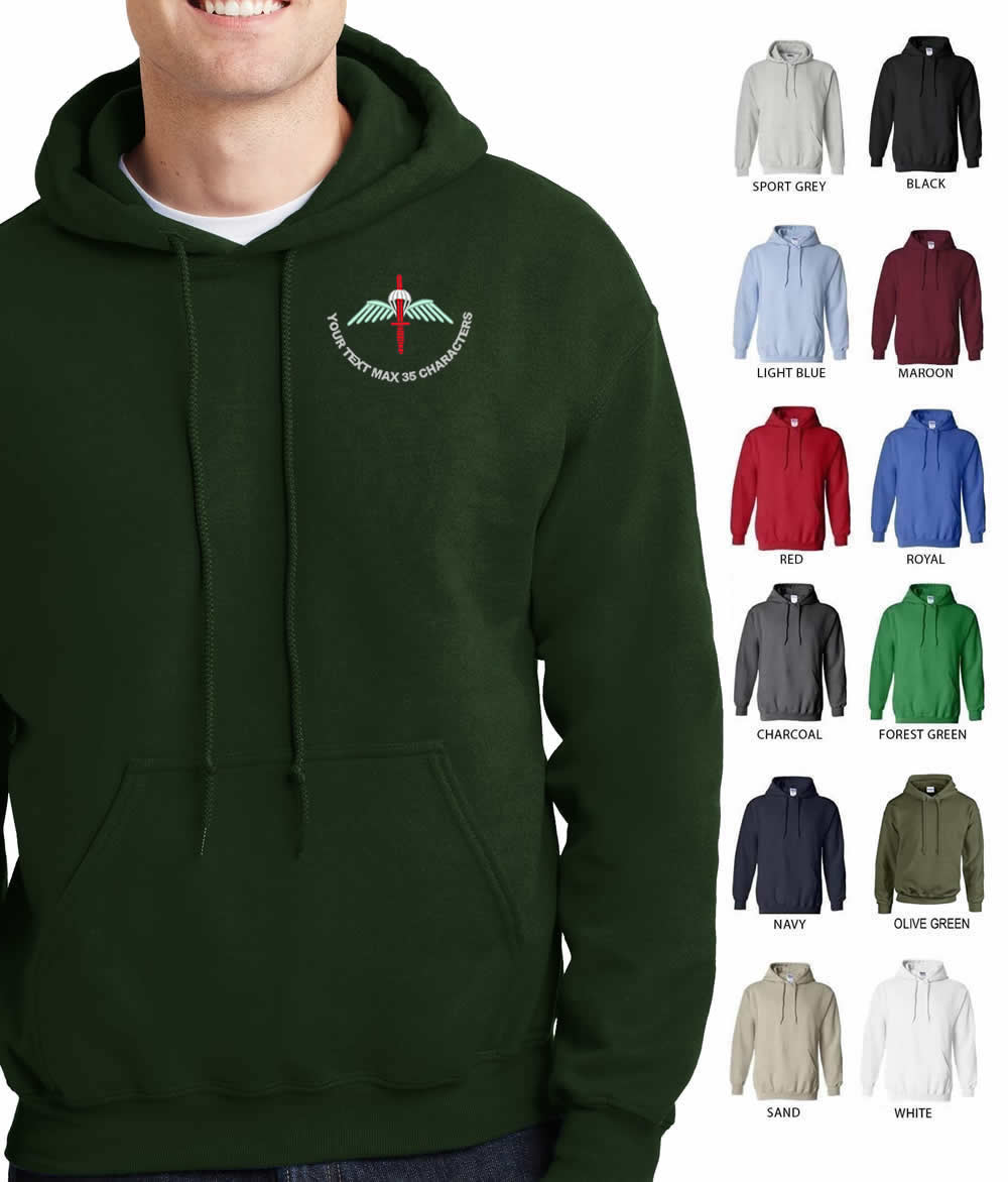 Parachute / Commando Embroidered Hoodie
