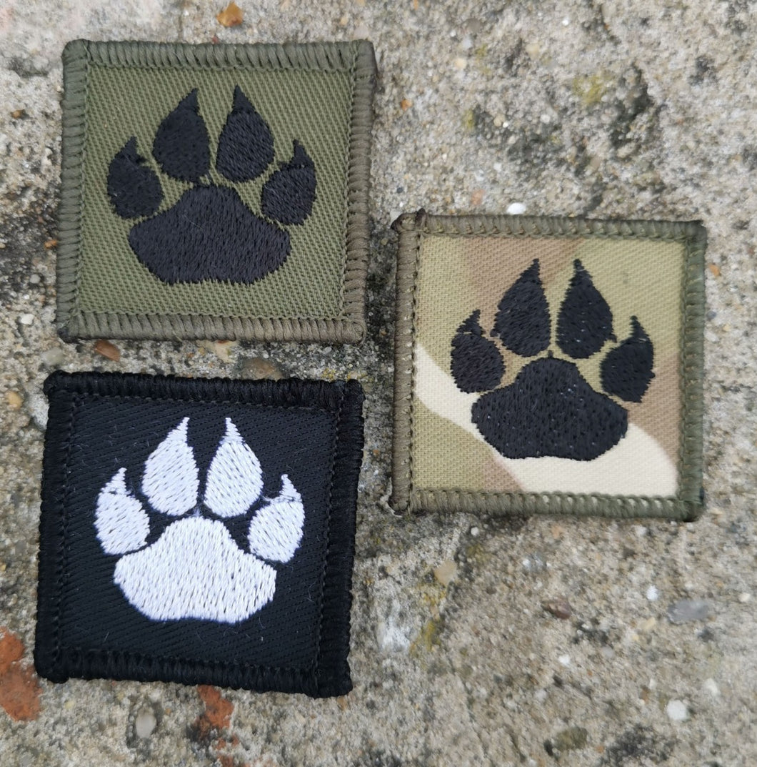 Embroidered K9 Paw Patch 40mm x 40mm