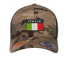 Load image into Gallery viewer, Embroidered Flexfit Yupong Cap Italia Italian Flag Cap
