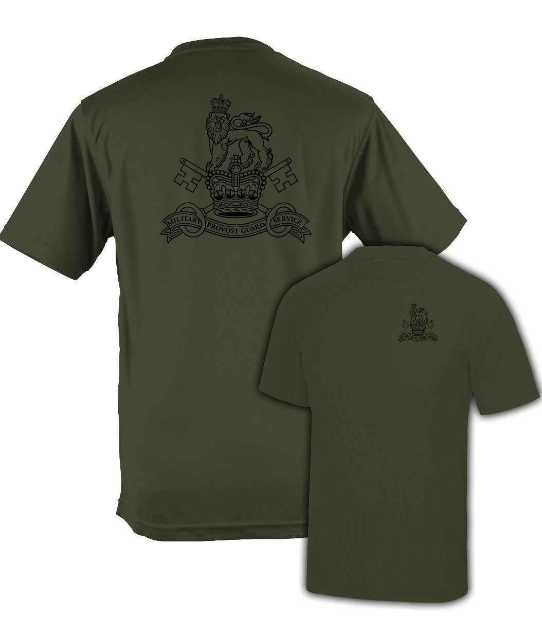 Fully Printed Military Provost Guard Service (MPGS) Wicking Fabric T-shirt