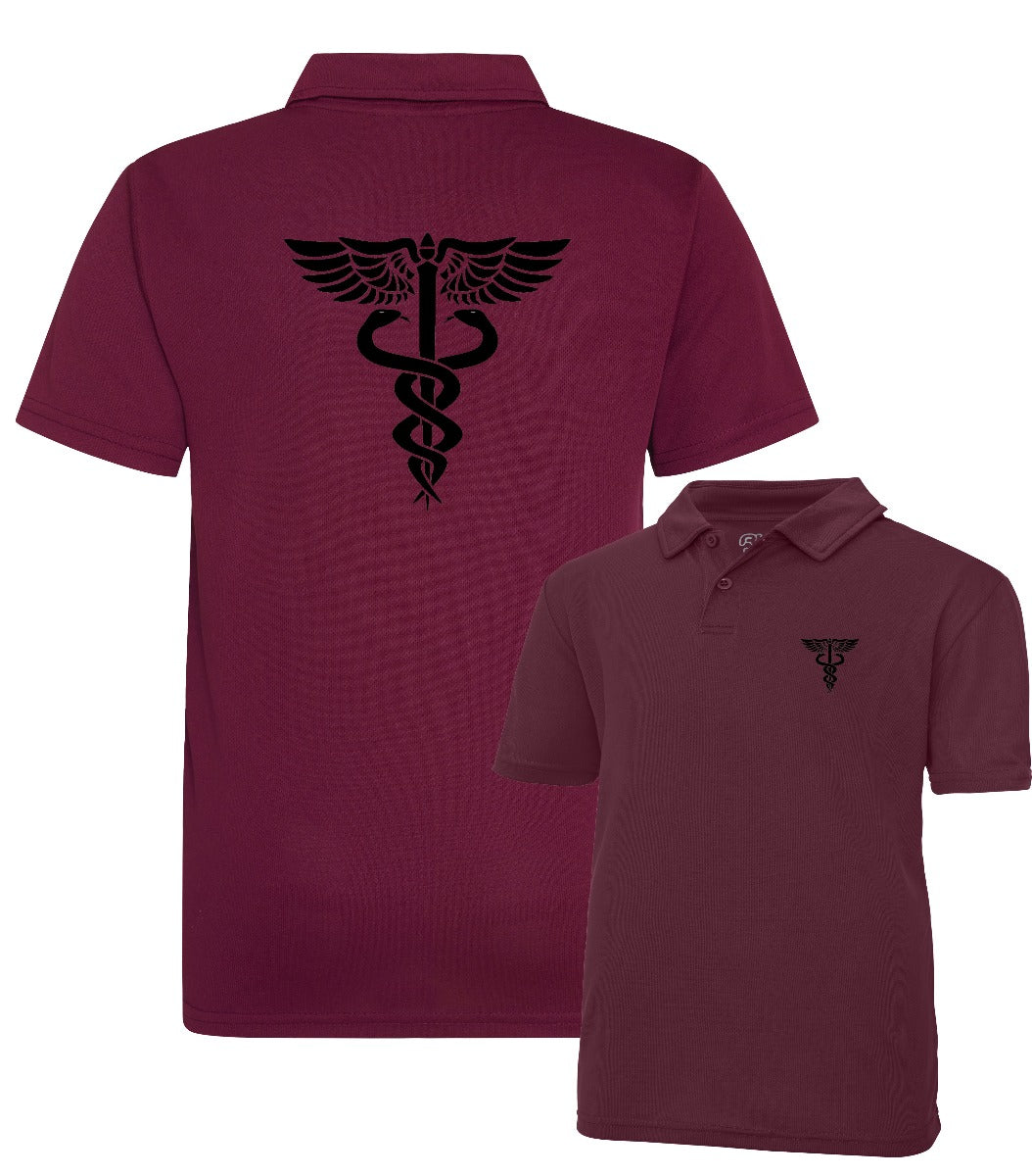 Double Printed Paramedic Wicking Polo Shirt
