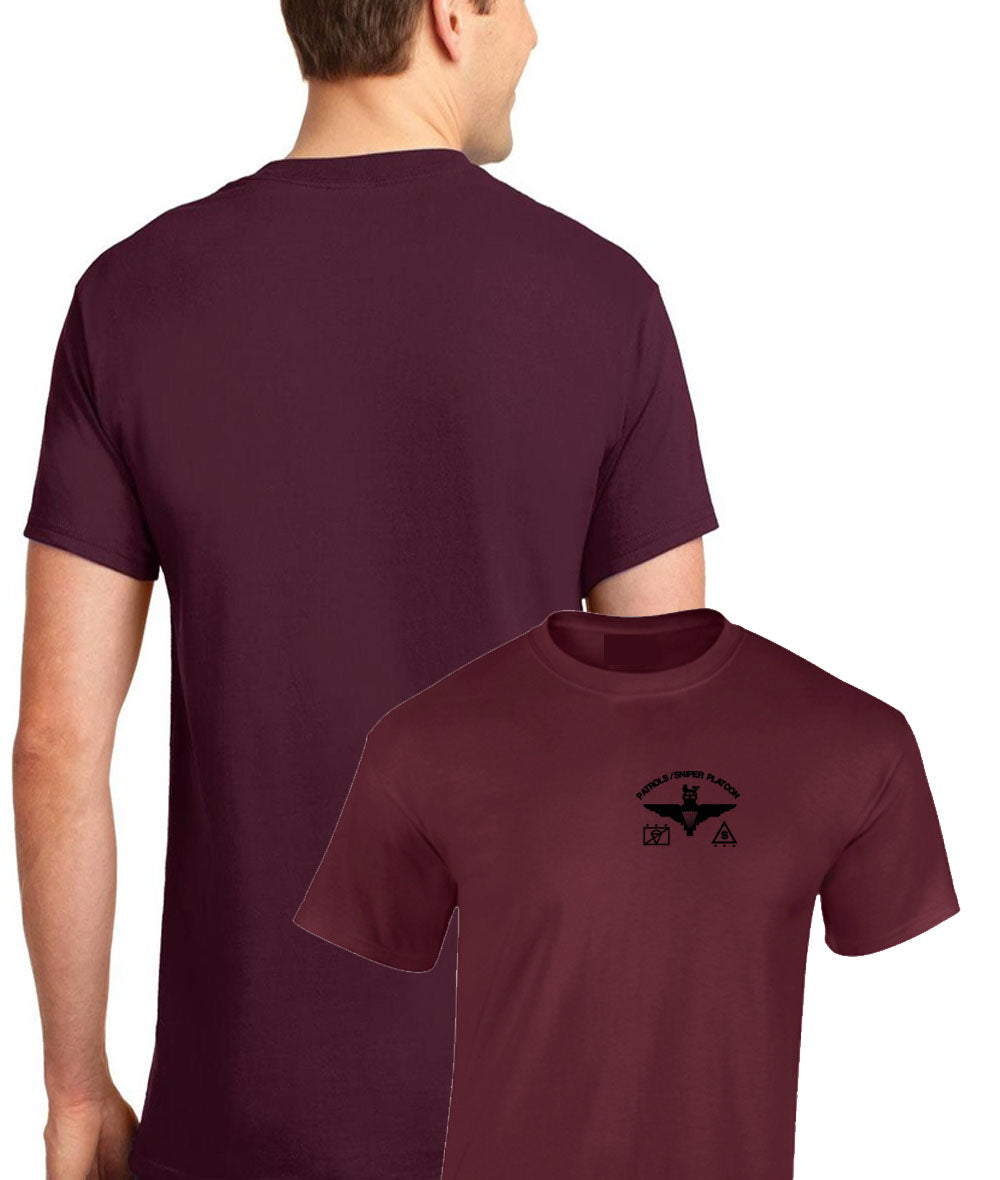 Embroidered Front T-Shirt Parachute Regiment Sniper Patrols (PARA)