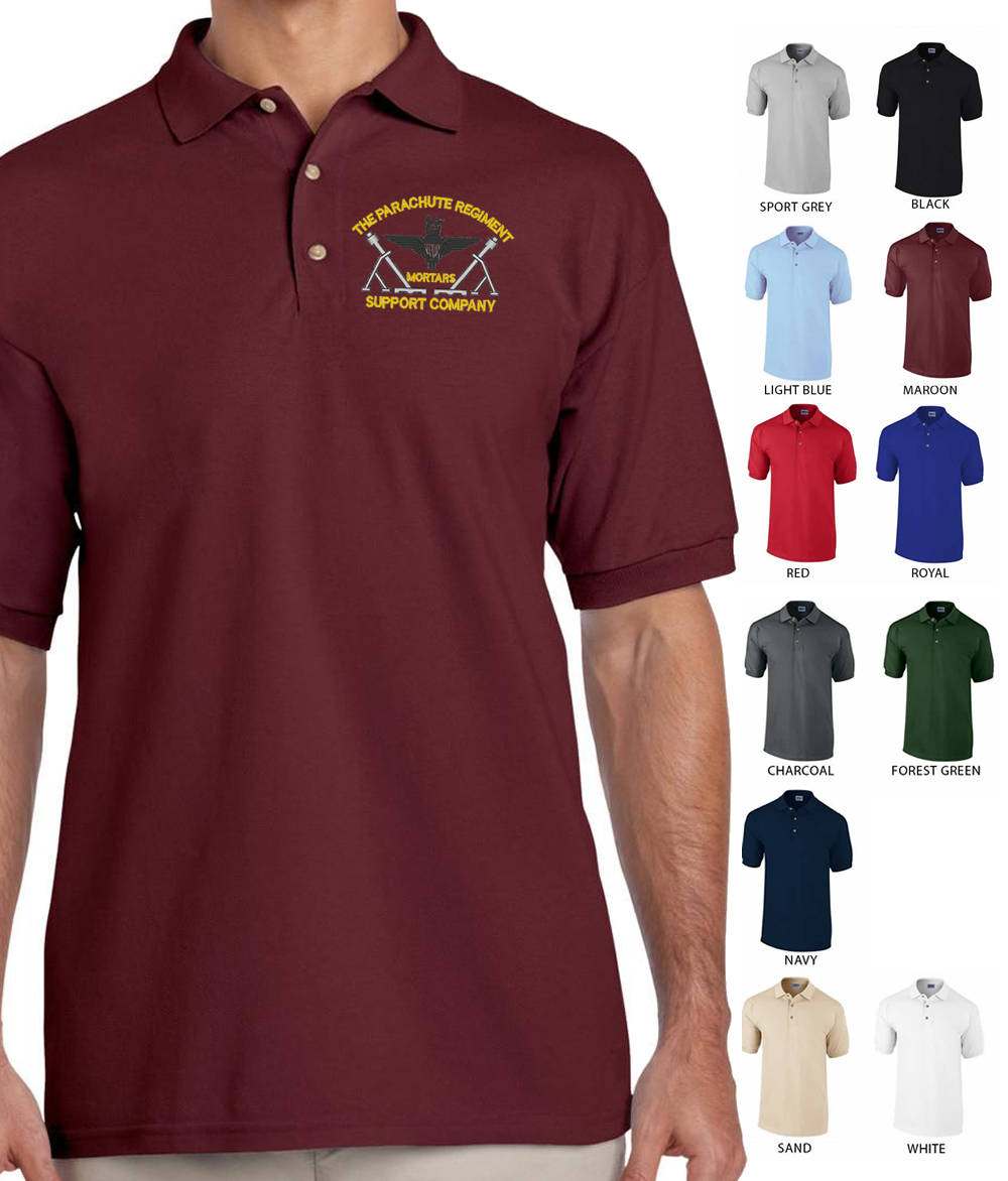 Parachute Regiment Mortars Embroidered Polo Shirt