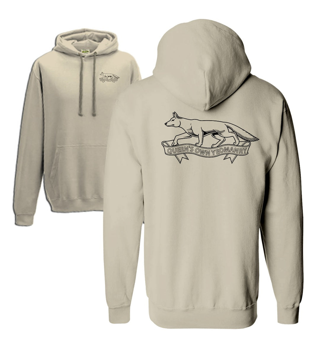 Double Printed Queen's Own Yeomanry Hoodie