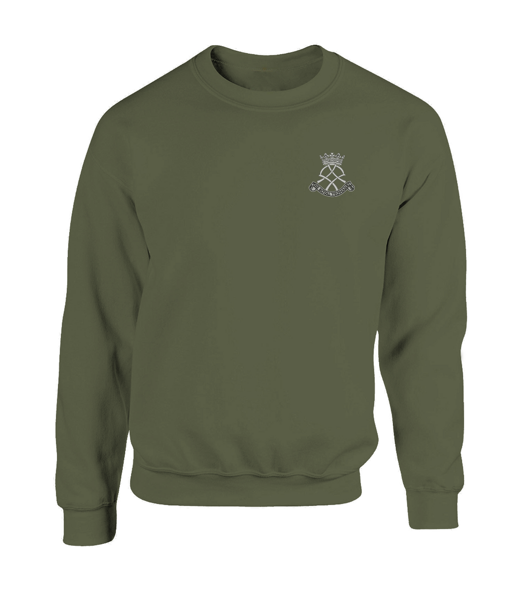 Embroidered Royal Yeomanry Sweatshirt Olive Green