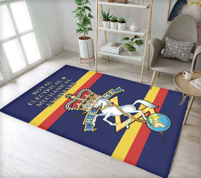 Printed Regimental Rug / Mat, Royal Electrical & Mechanical Engineers (REME)