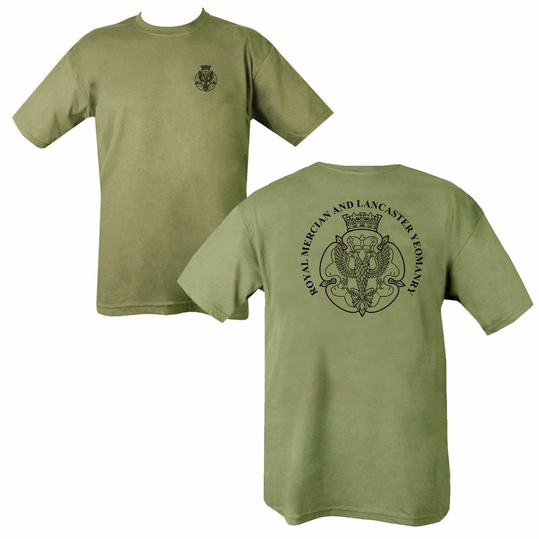 Double Printed Royal Mercian and Lancaster Yeomanry T-Shirt