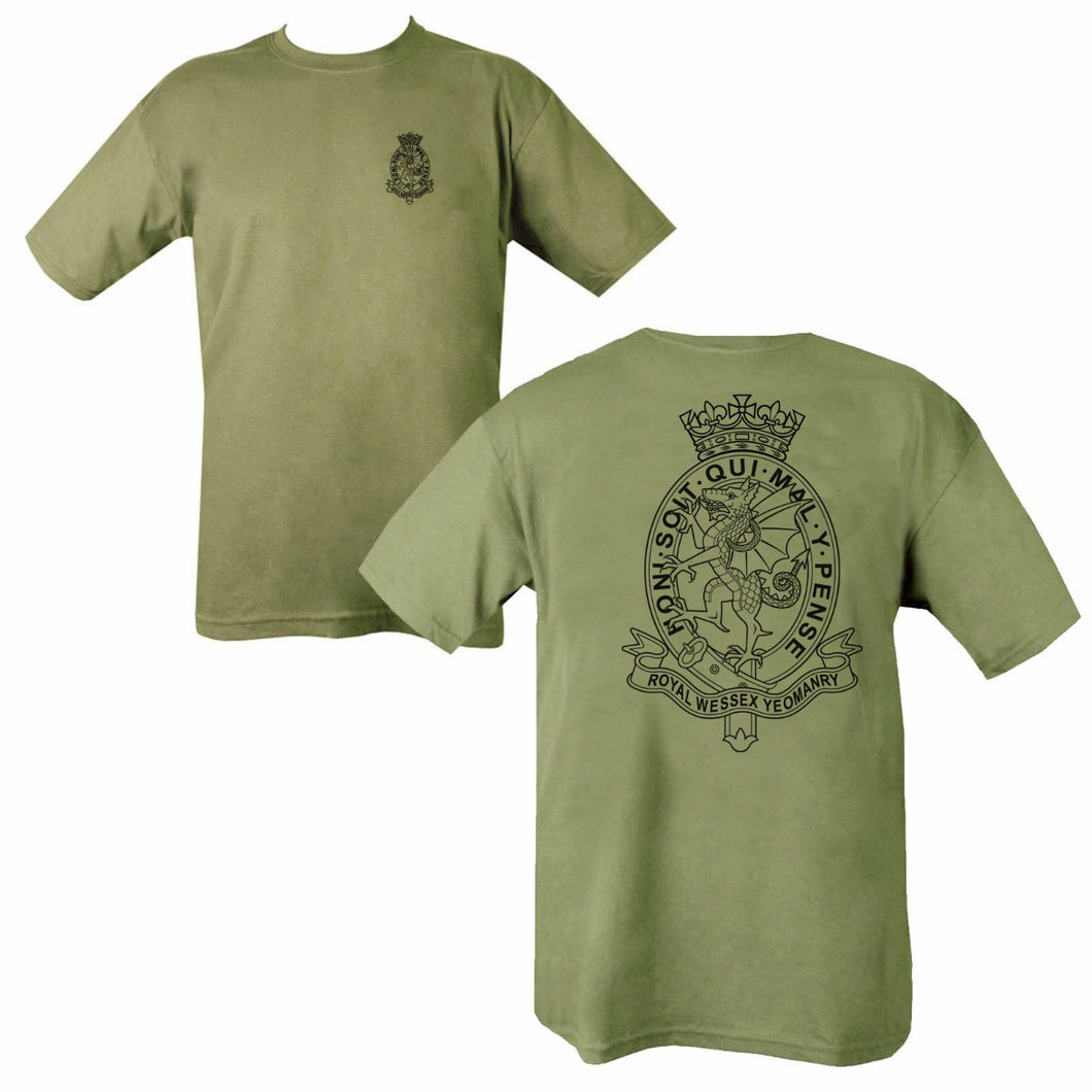 Double Printed Royal Wessex Yeomanry (RWxY) T-Shirt