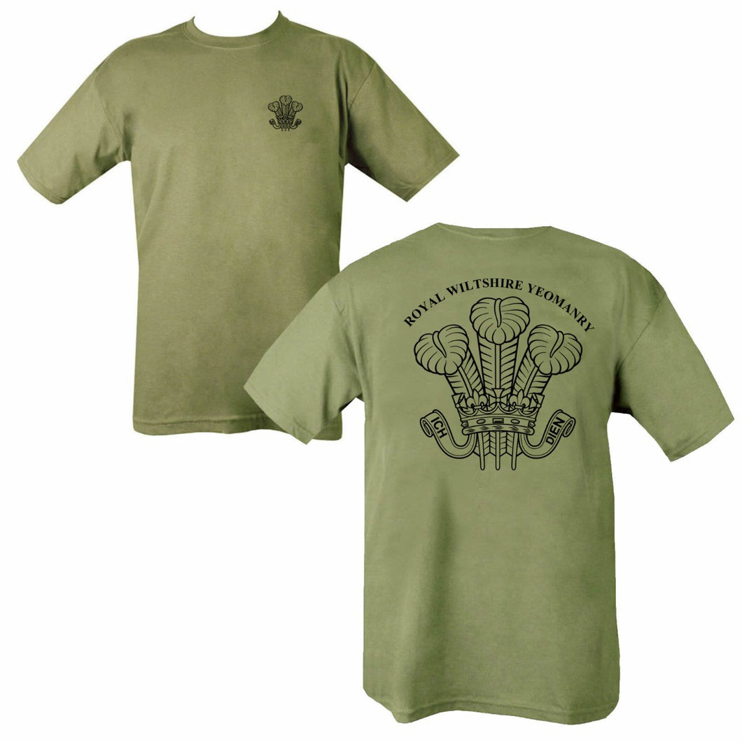Double Printed Royal Wiltshire Yeomanry T-Shirt