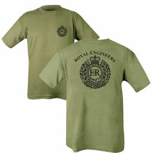 Load image into Gallery viewer, Double Printed Royal Engineers (RE) T-Shirt