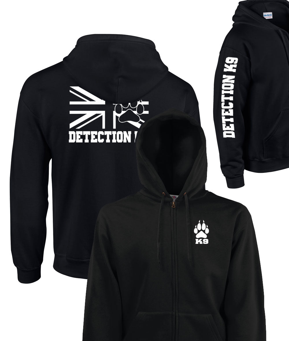 Triple Printed Detection K9 2 Zipped Hoodie