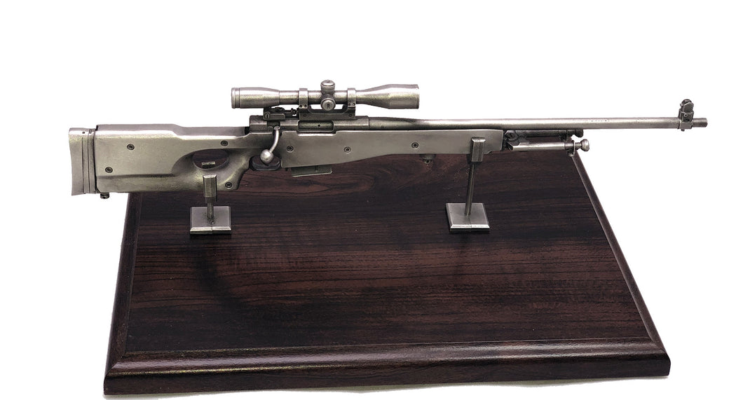 Pewter L96 Sniper Rifle Presentation 11