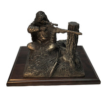 Load image into Gallery viewer, Cold Cast Bronze Prsentation Sniper Statue - Sitting