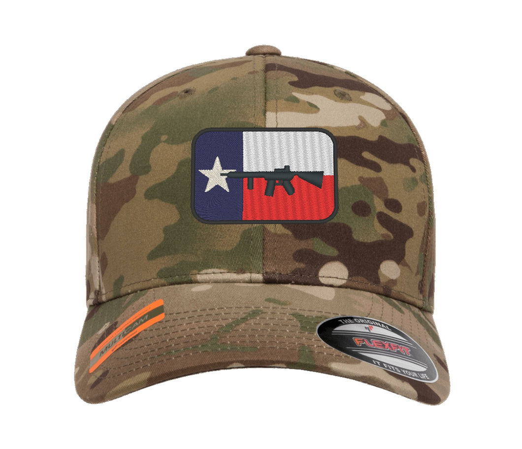 Texas Flag Gun Design Embroidered Cap