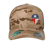 Load image into Gallery viewer, Texas Flag Punisher Skull Embroidered Cap