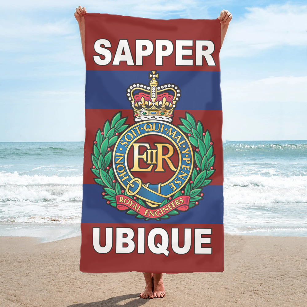 Fully Printed Royal Engineers (RE) Regimental Towel