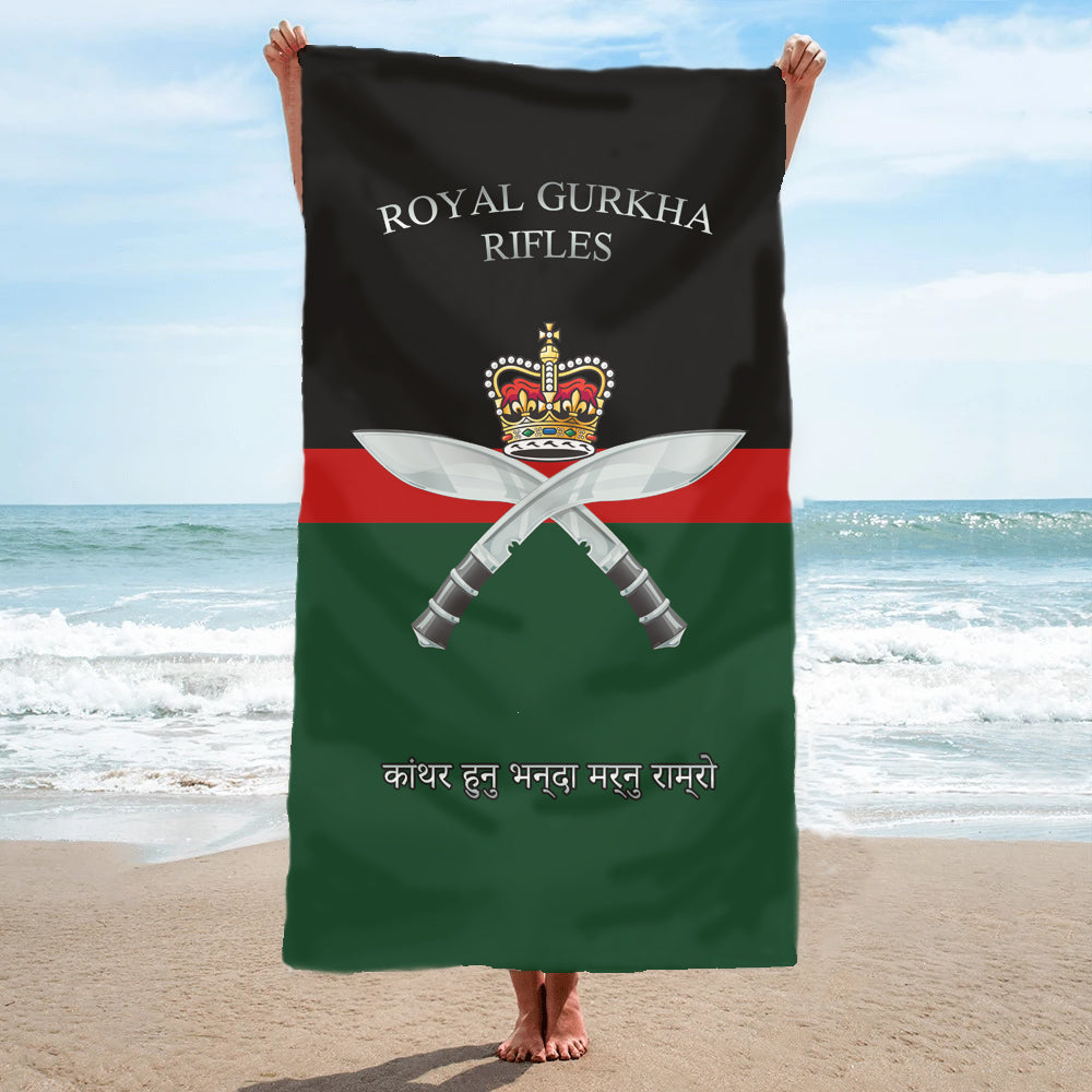 Fully Printed Royal Gurkha Rifles RGR Towel