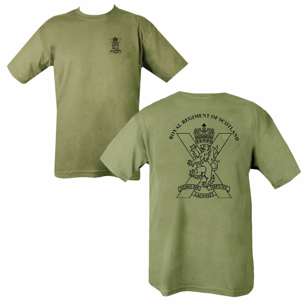 Double Printed Royal Regiment Of Scotland (SCOTS) T-Shirt