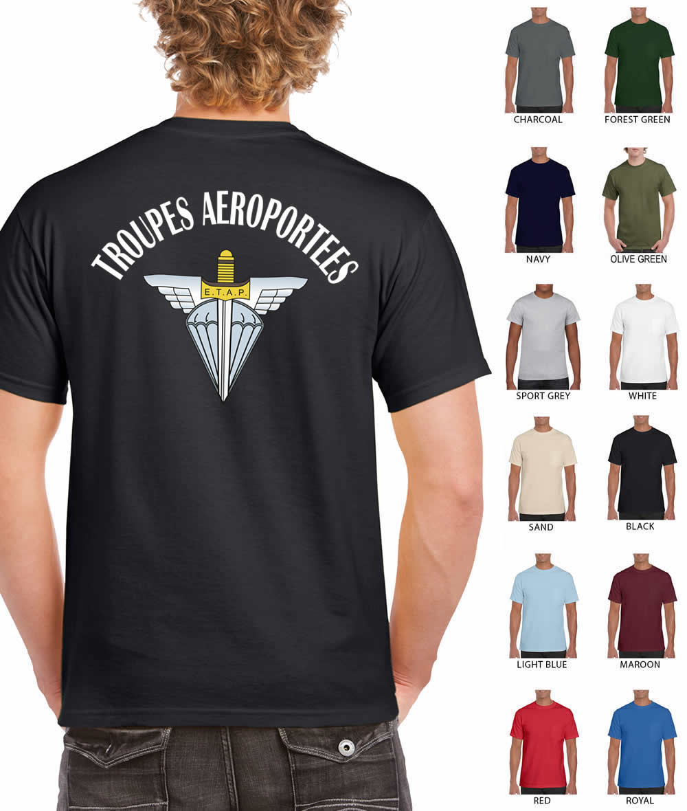 Troupes Aeroportees (French Airborne) Printed t-shirt