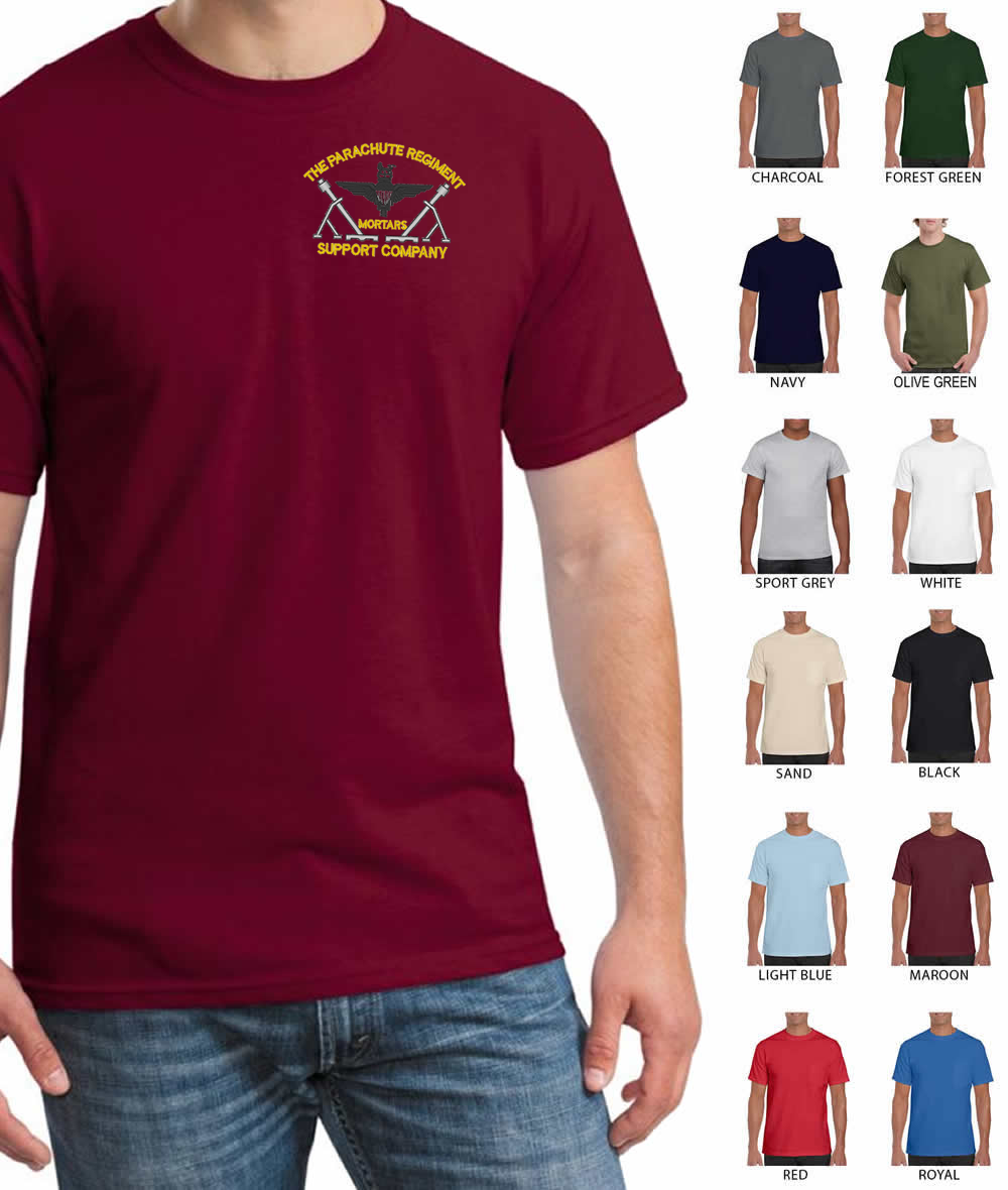 Parachute Regiment Mortars Embroidered T-Shirt