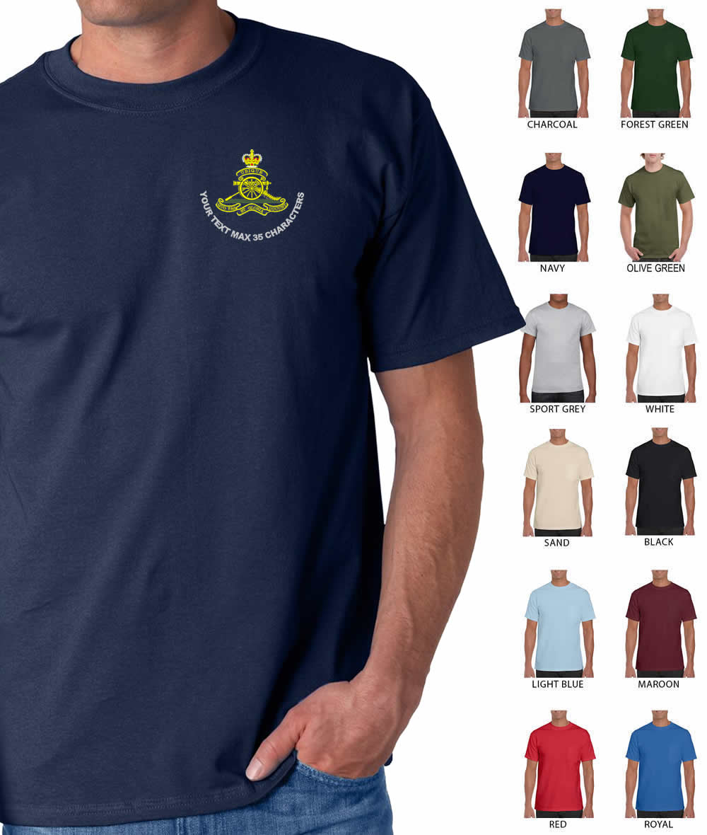 Royal Artillery Embroidered T-Shirt