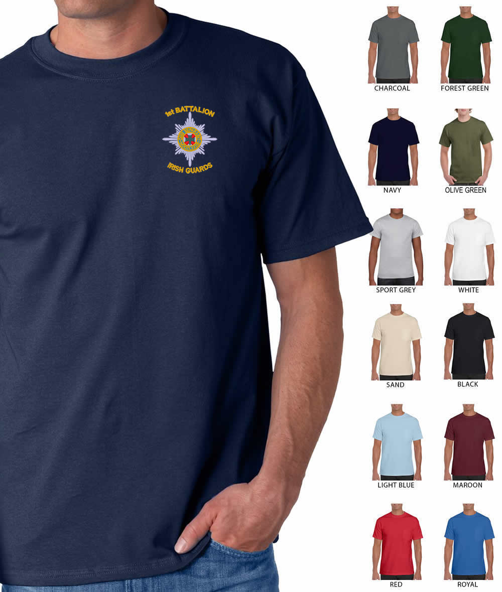 Irish Guards Embroidered T-shirt