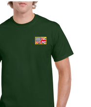 Load image into Gallery viewer, US/UK Flag Embroidered T-Shirt