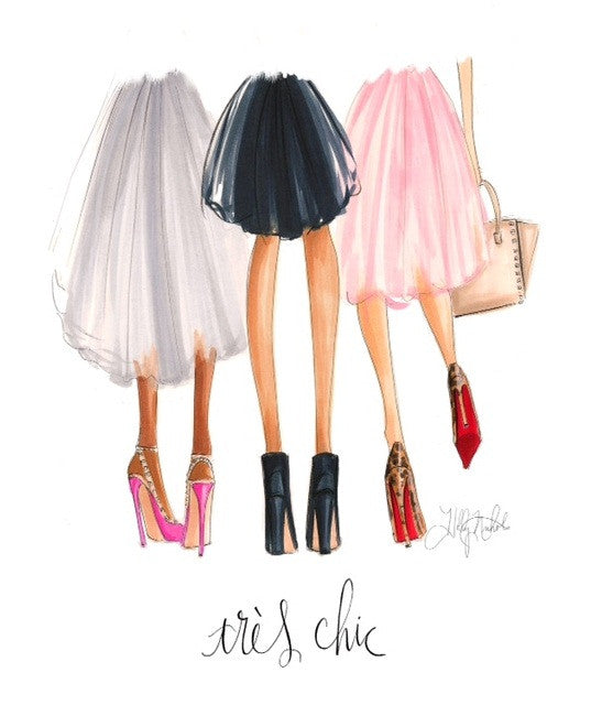 "<font style=""text-transform: none;""> H. Nichols Illustration -</font><br><font style=""text-transform: lowercase;"">TRÈS CHIC</font>, Prints - Bliss Tulle"