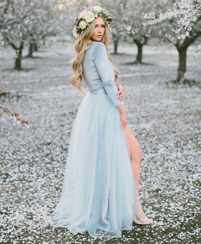 The Willow Maxi - Icy Blue, Skirts - Bliss Tulle