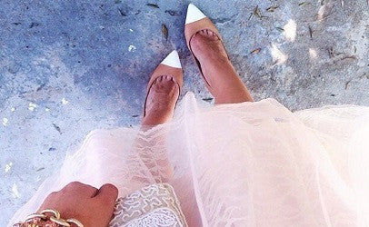 The blush, Kayla tulle skirt.